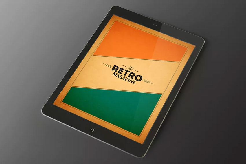 Retro Tablet Magazine InDesign Template