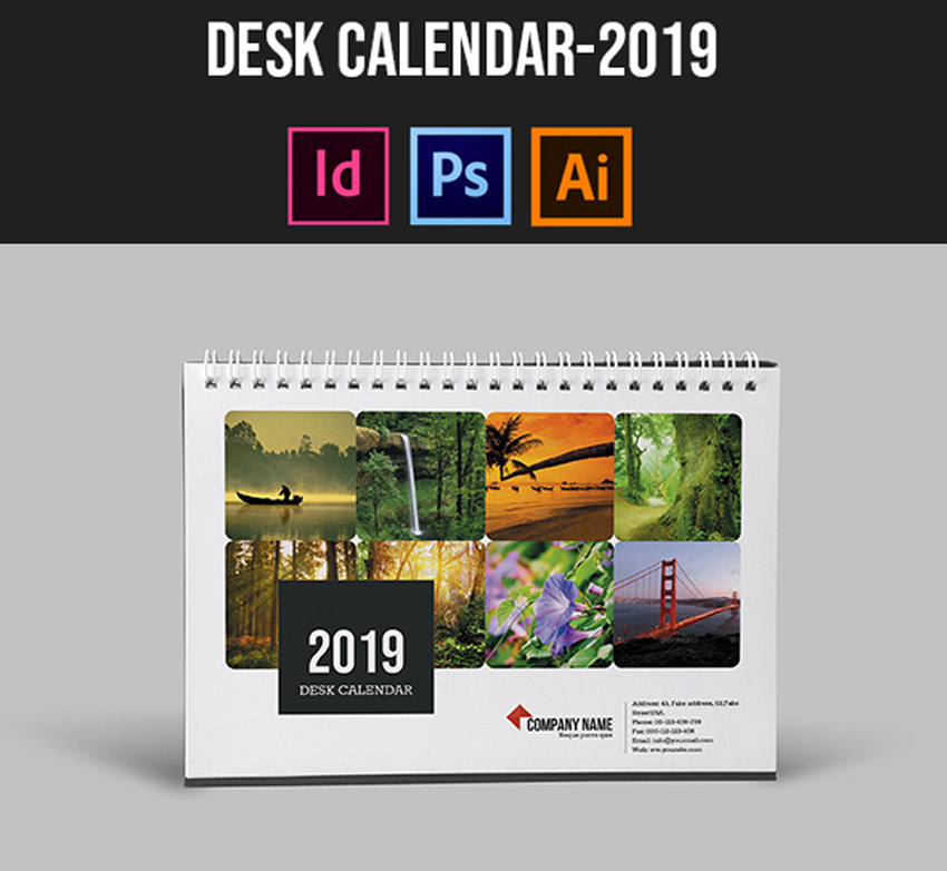 Calendario Indesign.21 Best Indesign Calendar Templates New For 2019