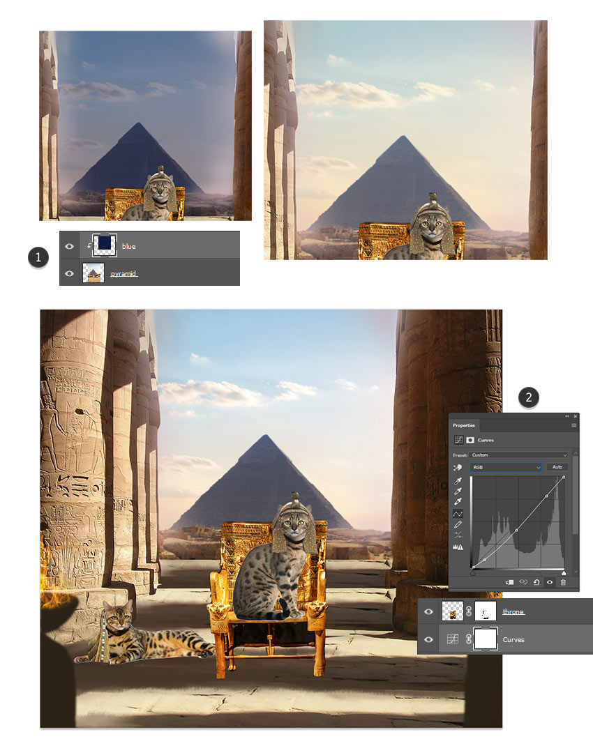 How to Create an Ancient-Egypt-Inspired Cat Photo