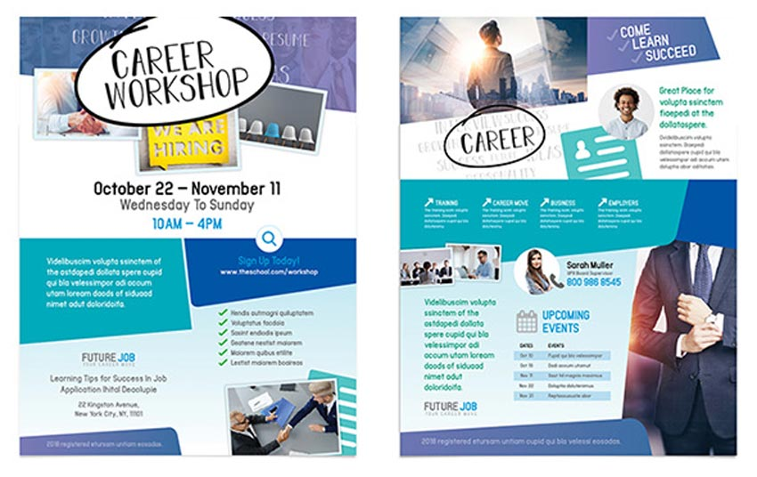 Career Workshop Flyers