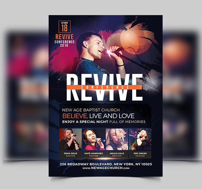 the awakening revival church flyer and cd template.html