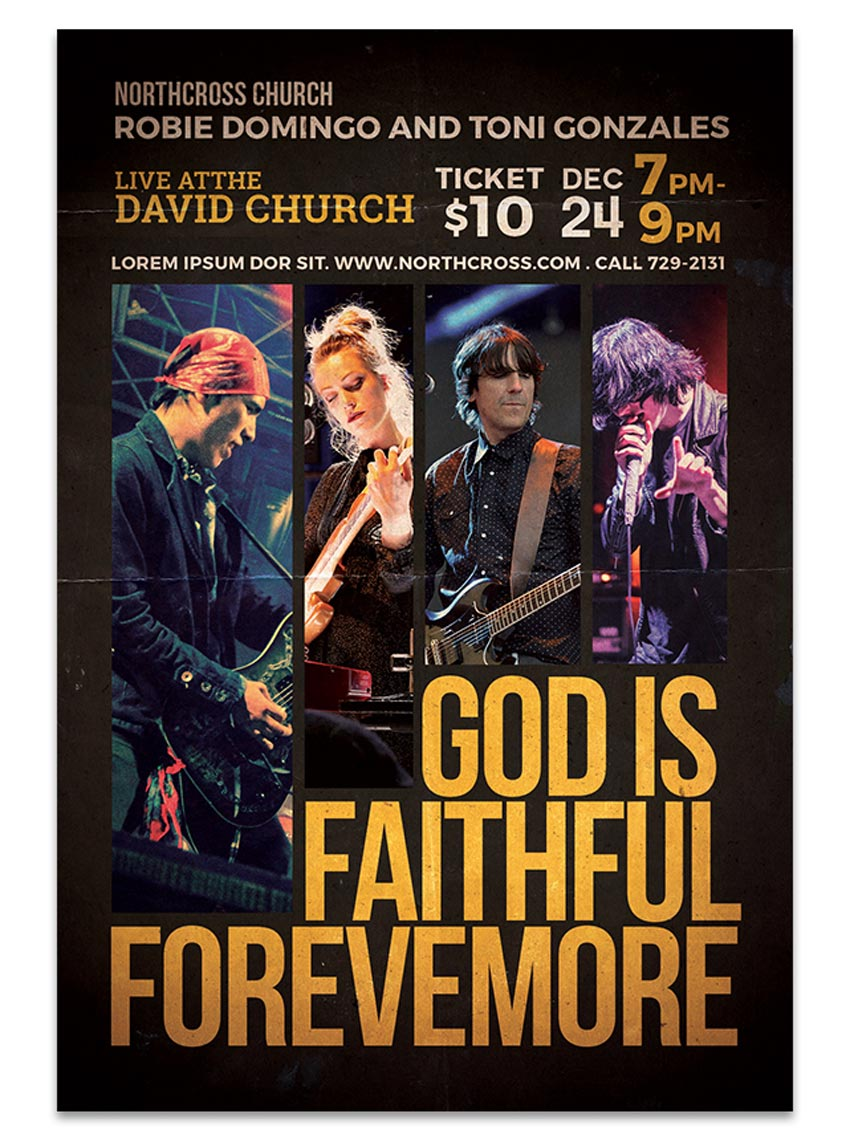 God is Faithful Church Flyer