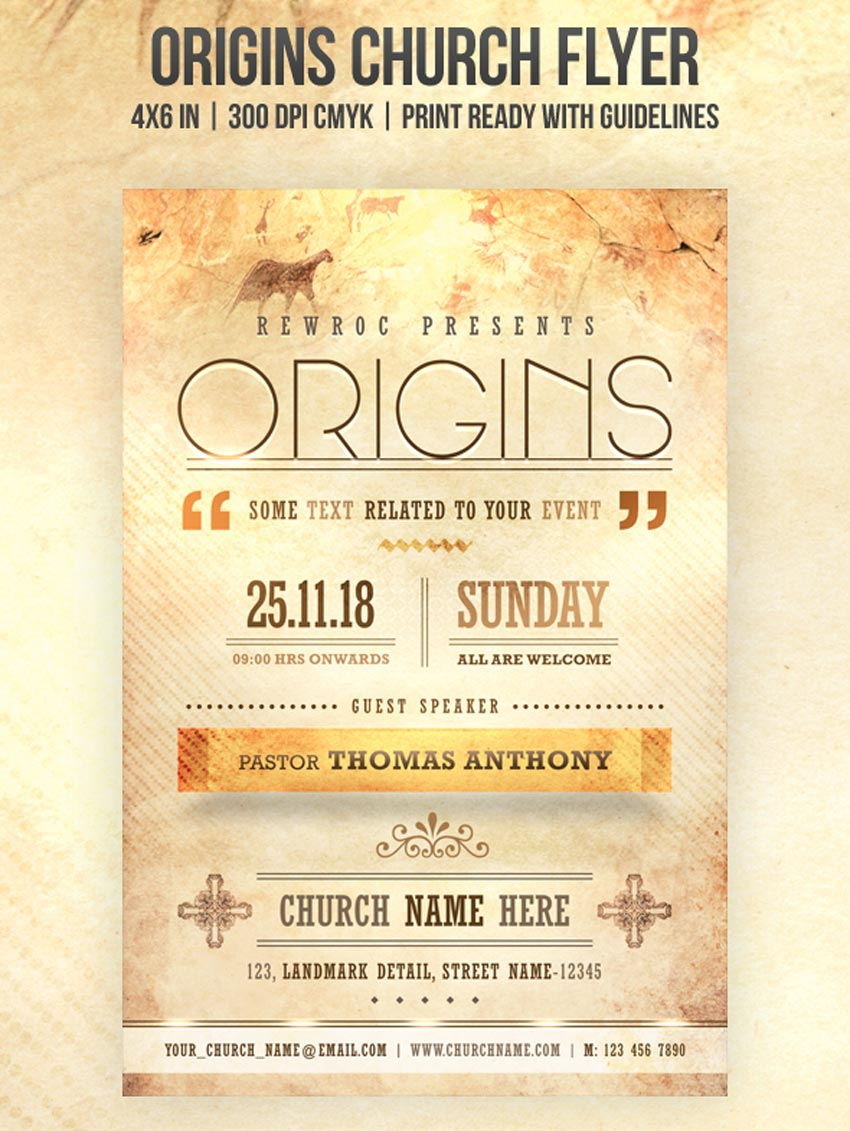 Origins Church Flyer