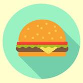 Graphic Design Make a Flat Burger Icon