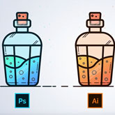 How to Make a Laboratory Flask Icon Design in Adobe Illustrator