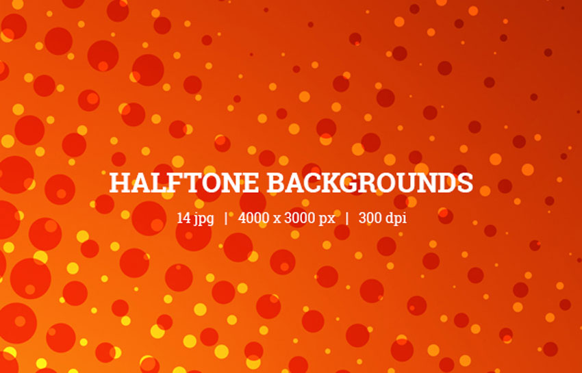 Comic Halftone Backgrounds