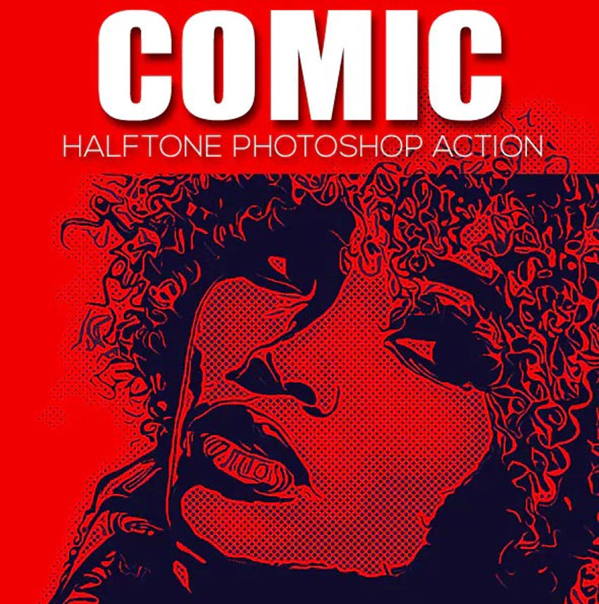 Comic Halftone Photoshop Action