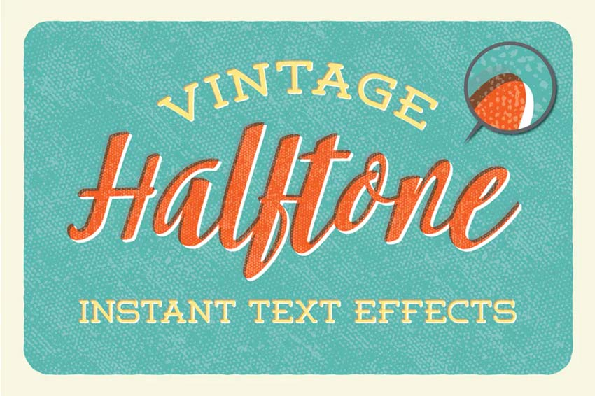 Vintage Halftone - Instant Text Effects