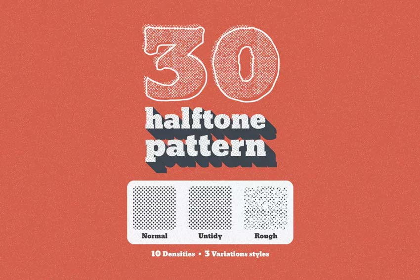 30 Seamless Tiled Halftone Pattern