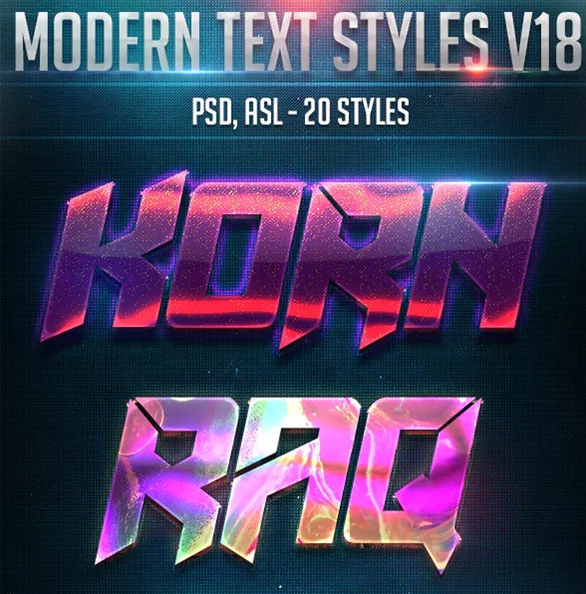 Modern Text Design Layer Styles