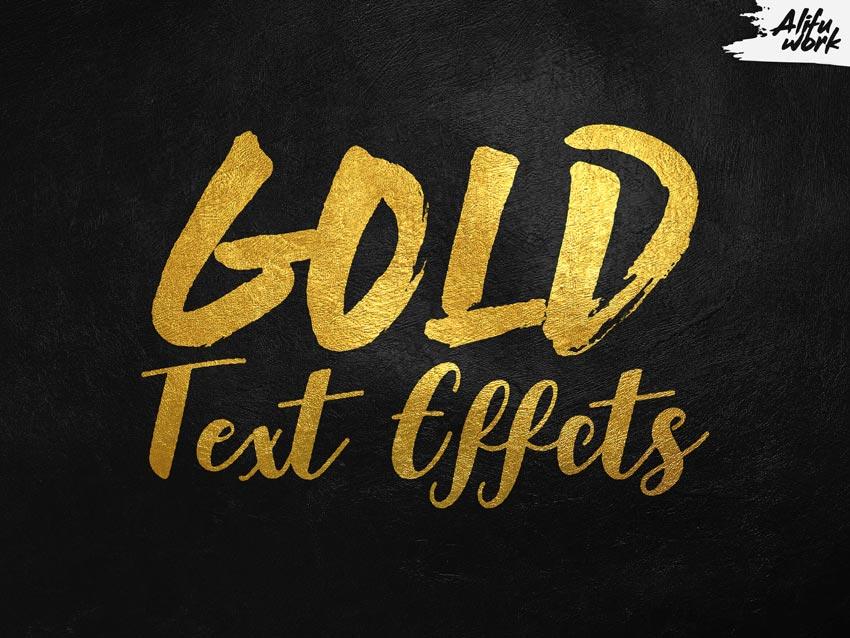 Gold Text Effects Bundle