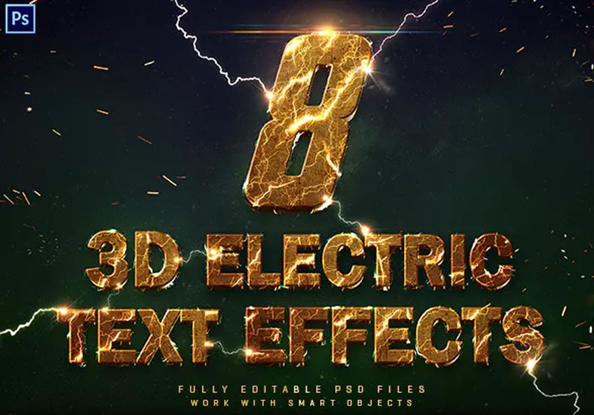 3D Electric Text Effects