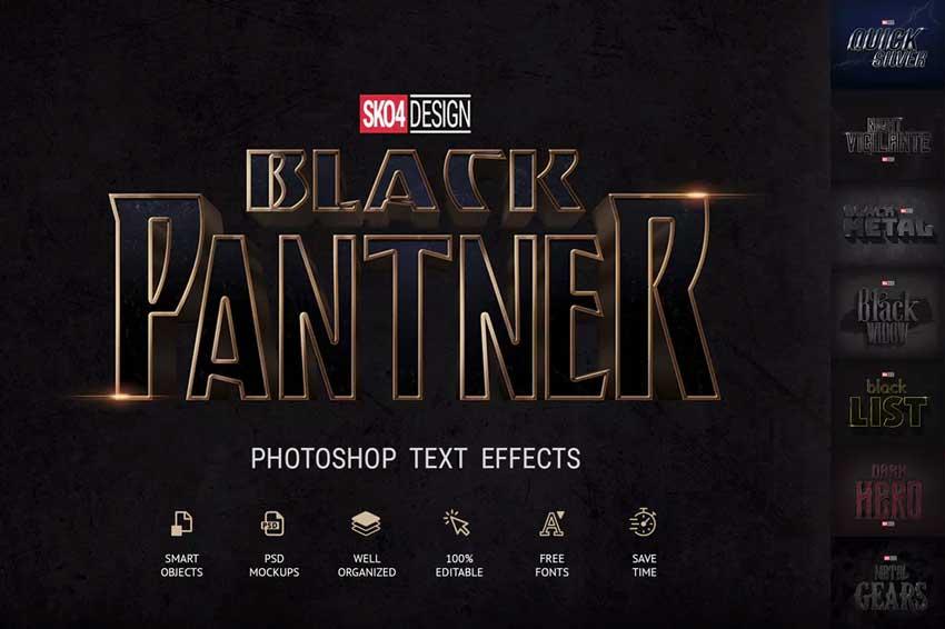 Black  Metal Photoshop Layer Styles