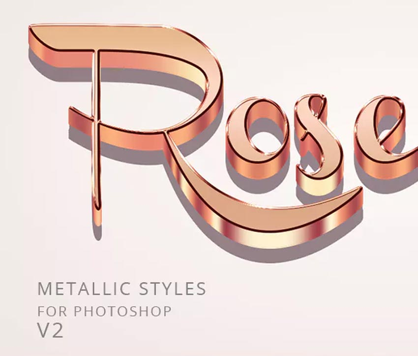 Rose Gold Text Effect for Photoshop