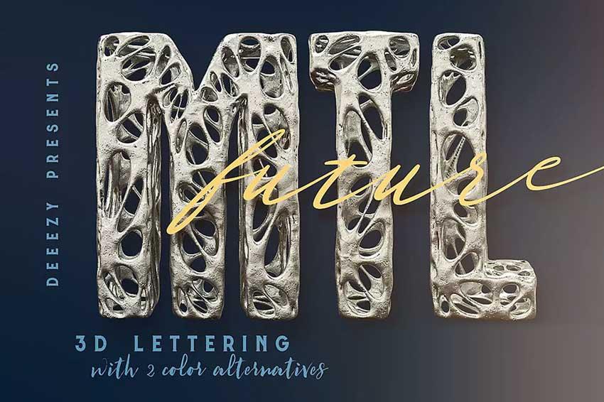 Future Metal  3D Lettering