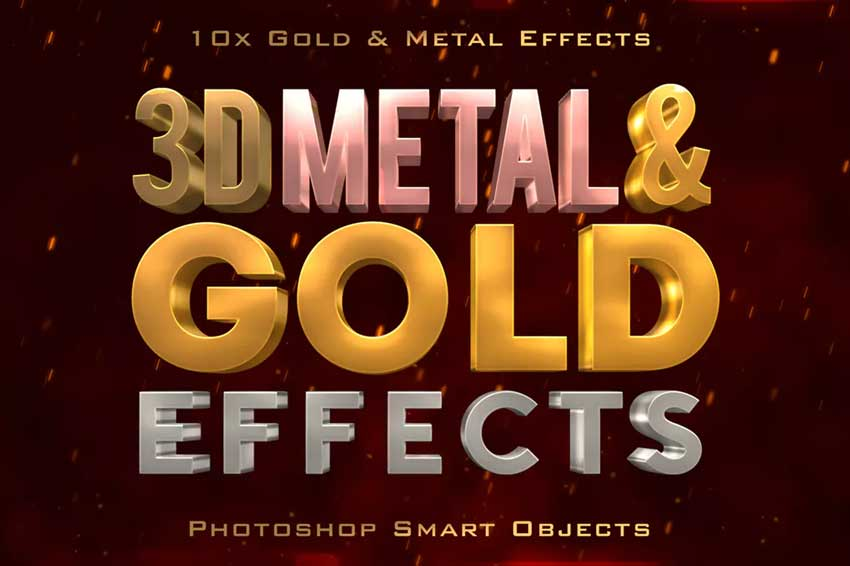 34 Best Gold Text Photoshop Effects (And Other Metallic Effects)