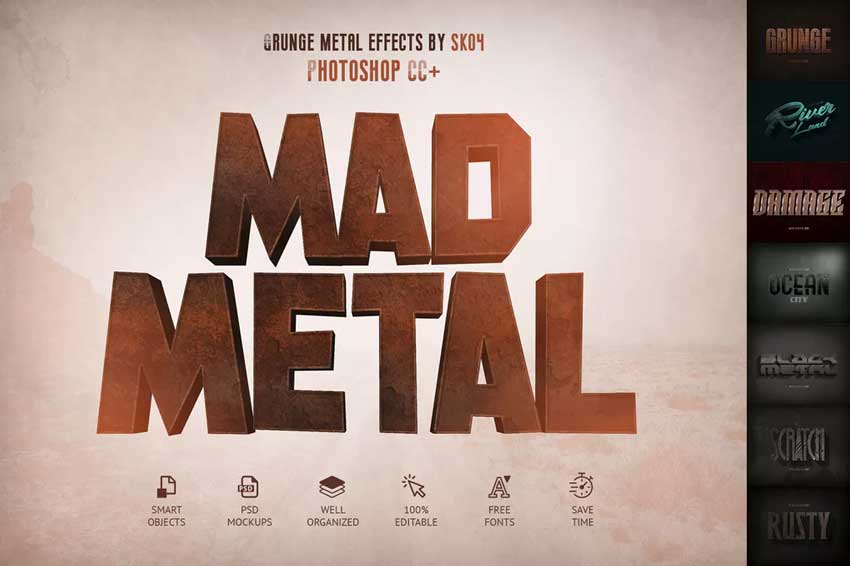 Mad Metal  Text Effects