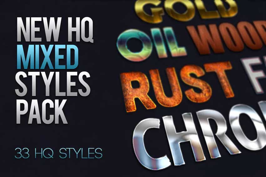 Mixed Photoshop Layer Styles Pack