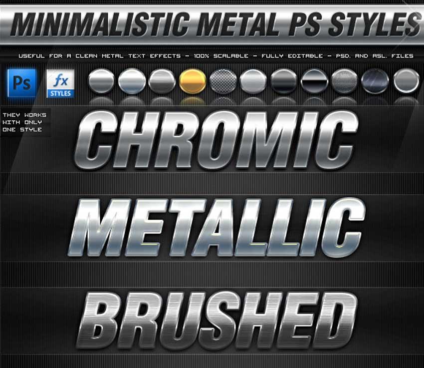30 Minimalistic Metal PS Styles