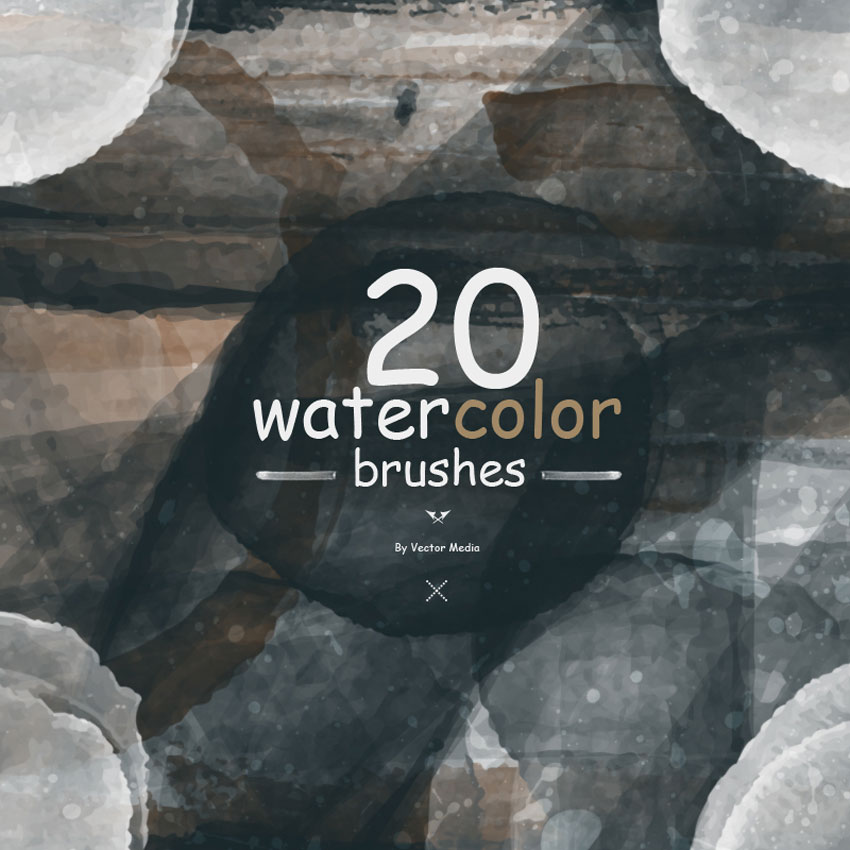 20 Watercolor Photoshop Brushes