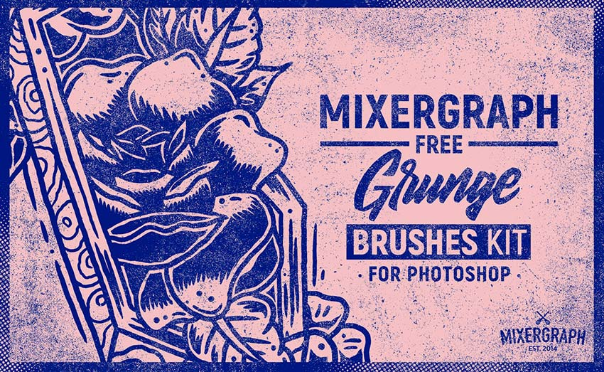 Grunge Photoshop Brush Texture Kit
