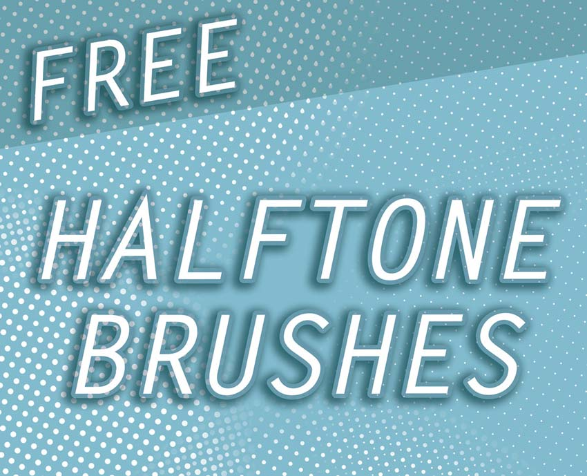 Halftone Brush Textures for Photoshop