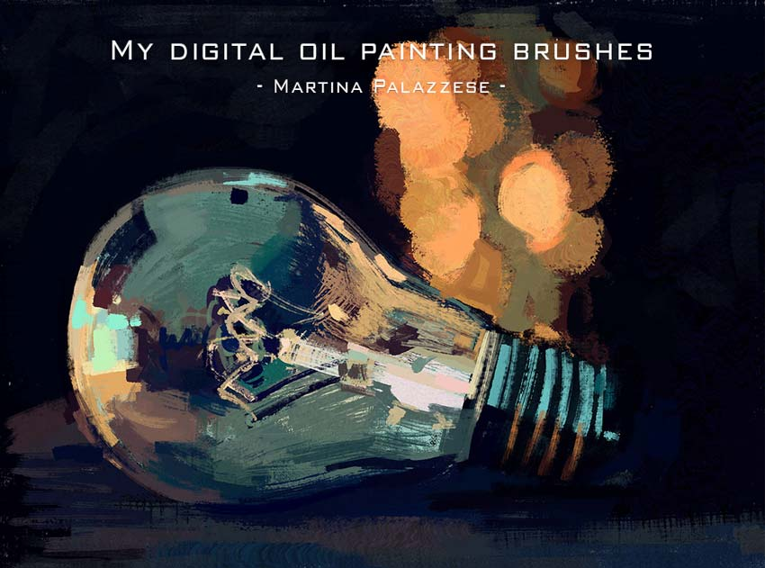 Digital Oil Painting Photoshop Brushes