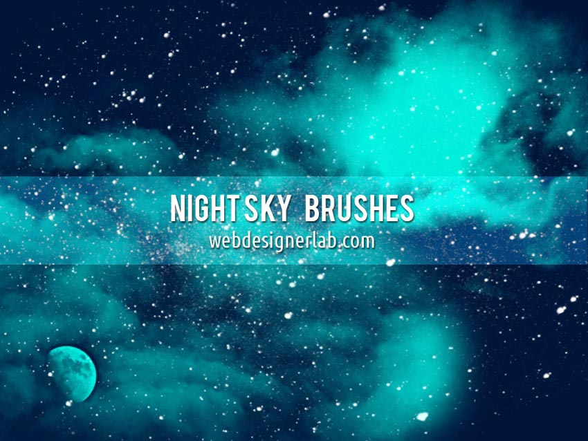 Night Sky and Star Brush Photoshop