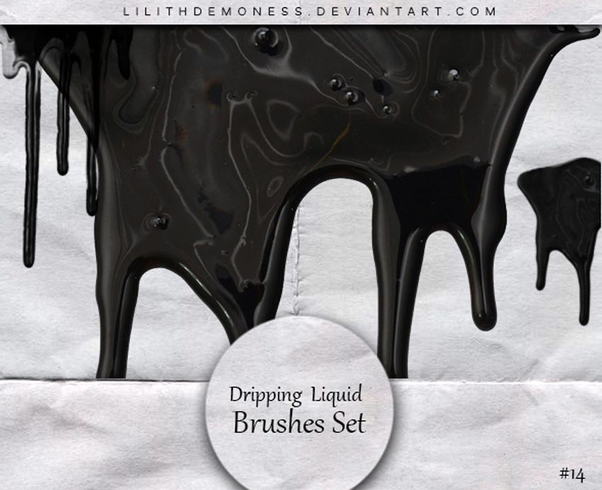 Dripping Liquid Photoshop Brushes