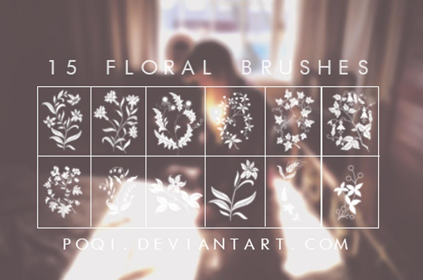 15 Floral Photoshop Brushes