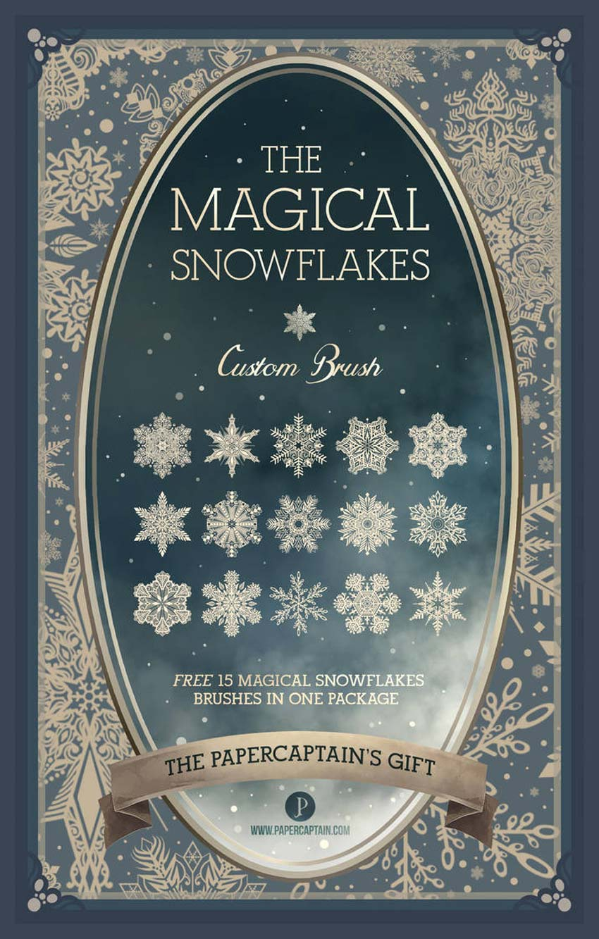 Magical Snowflakes Photoshop Brushes