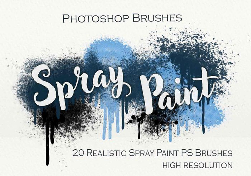 20 Spray Paint PS Brushes