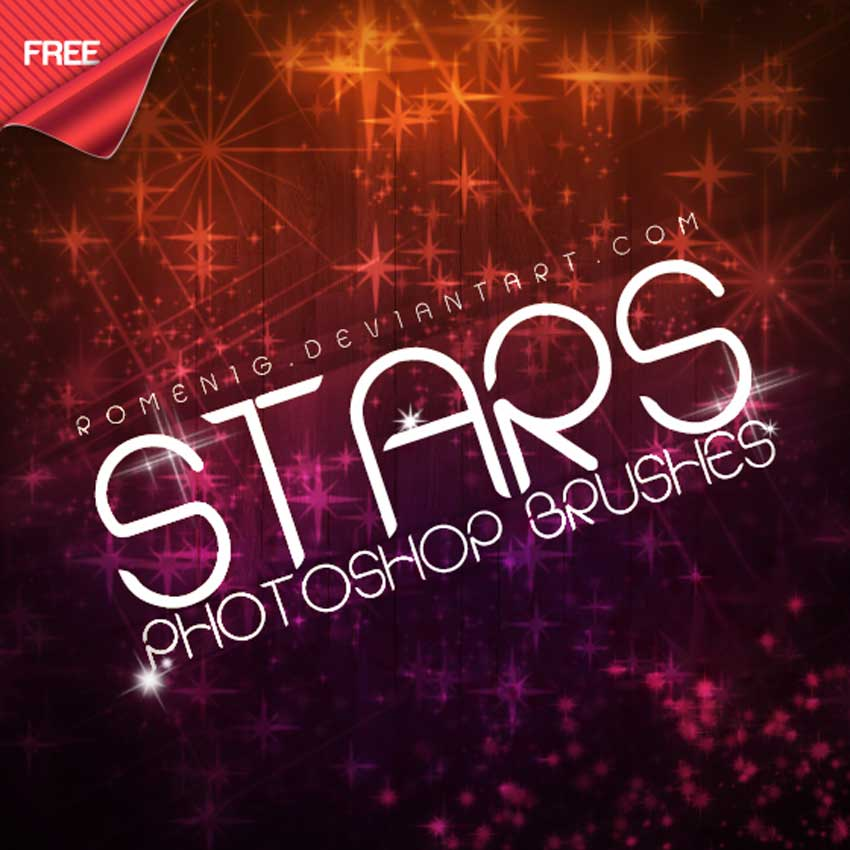 Amazing Stars Free Photoshop Brushes