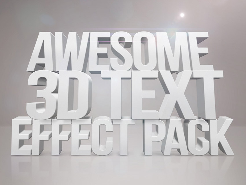 3D Text Effects for Photoshop