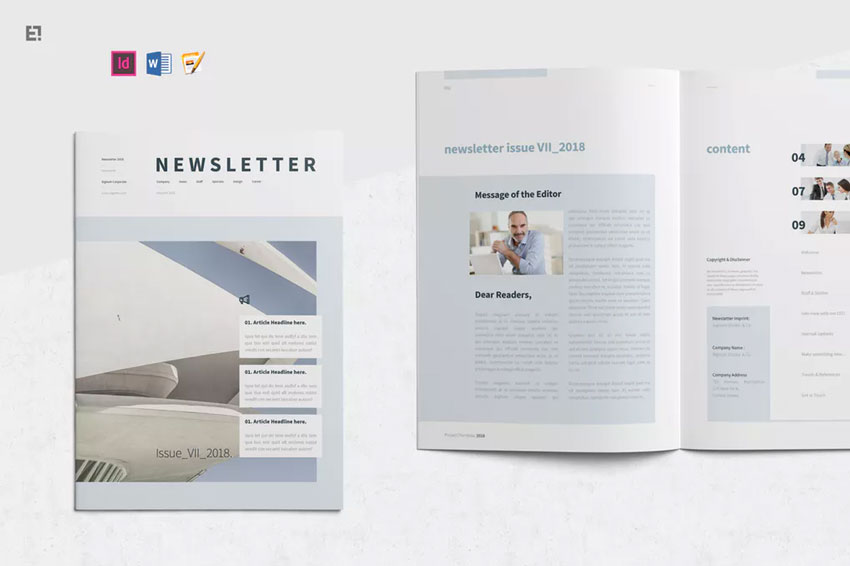 newsletter design templates
