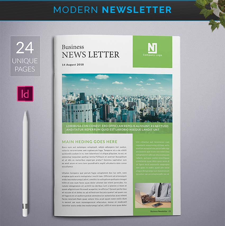 Modern InDesign Newsletter Template