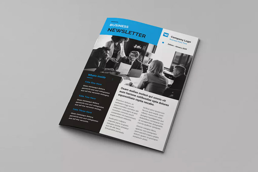Business Newsletter Brochure Template