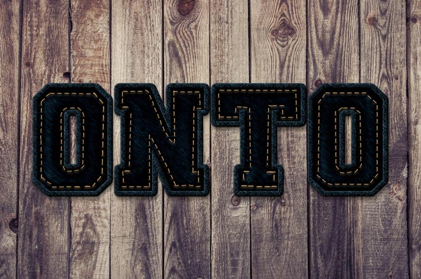 How to Make a Photoshop Action to Create a Stitched Jeans Text Effect