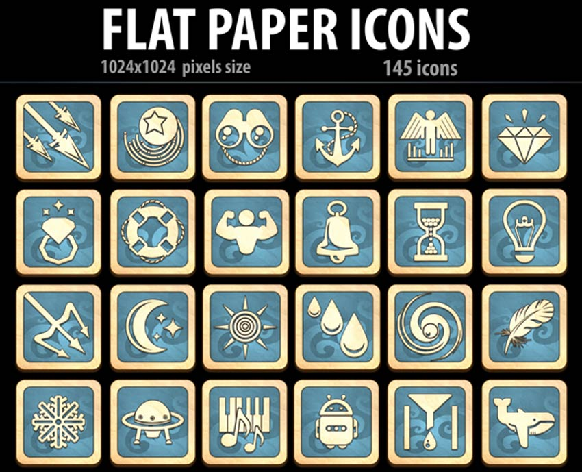 Flat Paper Icons