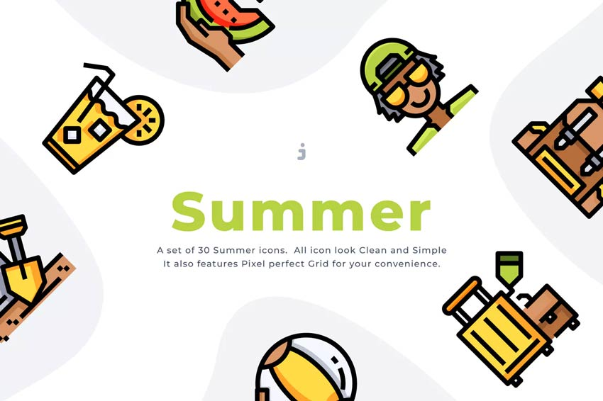 Summertime Icons for Instagram Highlights