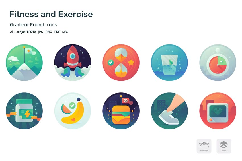 Health and Fitness - Instagram Highlight Icons