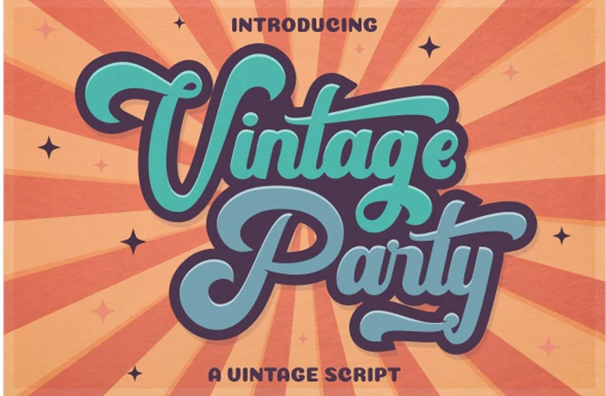 Vintage Party - 80s Retro Font