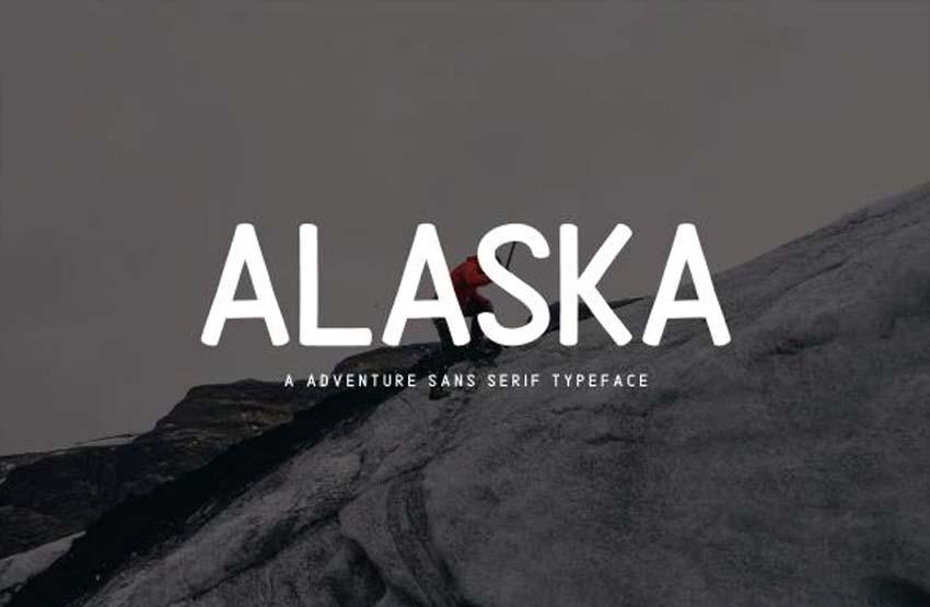 Alaska Adventure Sans Serif Type