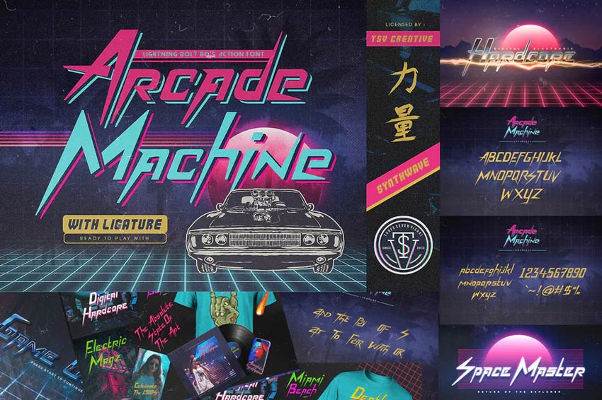 Arcade Machine 80s Retro Font