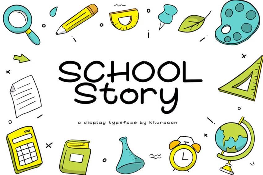 School Story 80s Font