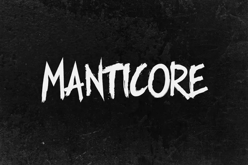 Manticore - 80s Brush Font