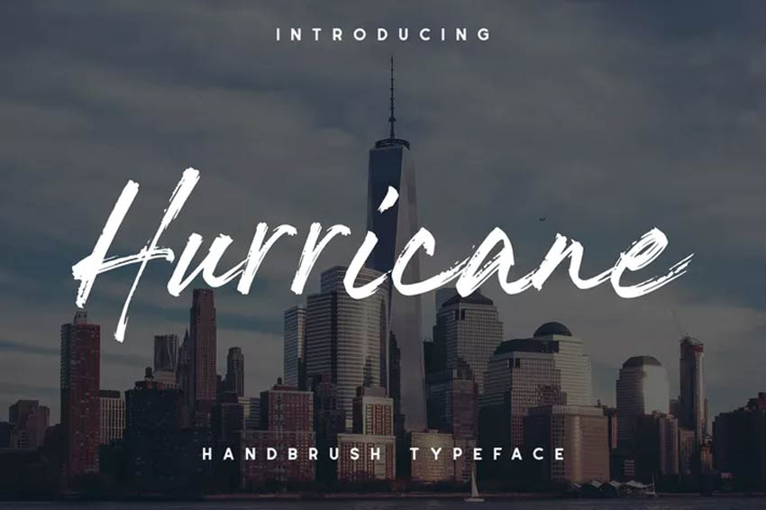 The Hurricane Handbrush 80s Font