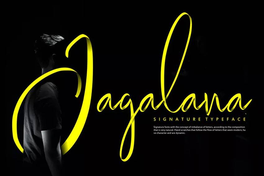 Jagalana 80s Script Font