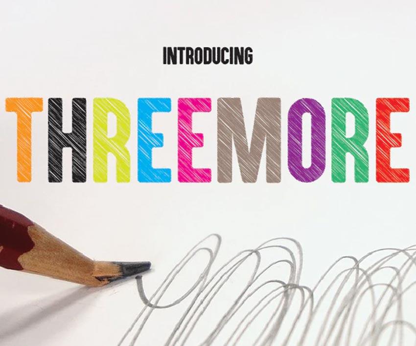 Threemore - Chalk Font