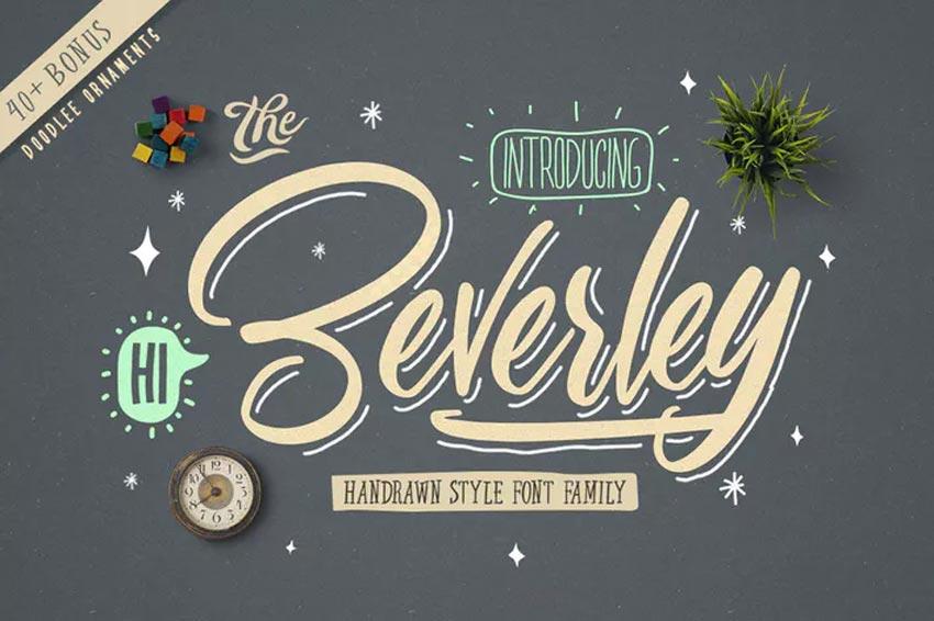 Beverley Chalk Font Family